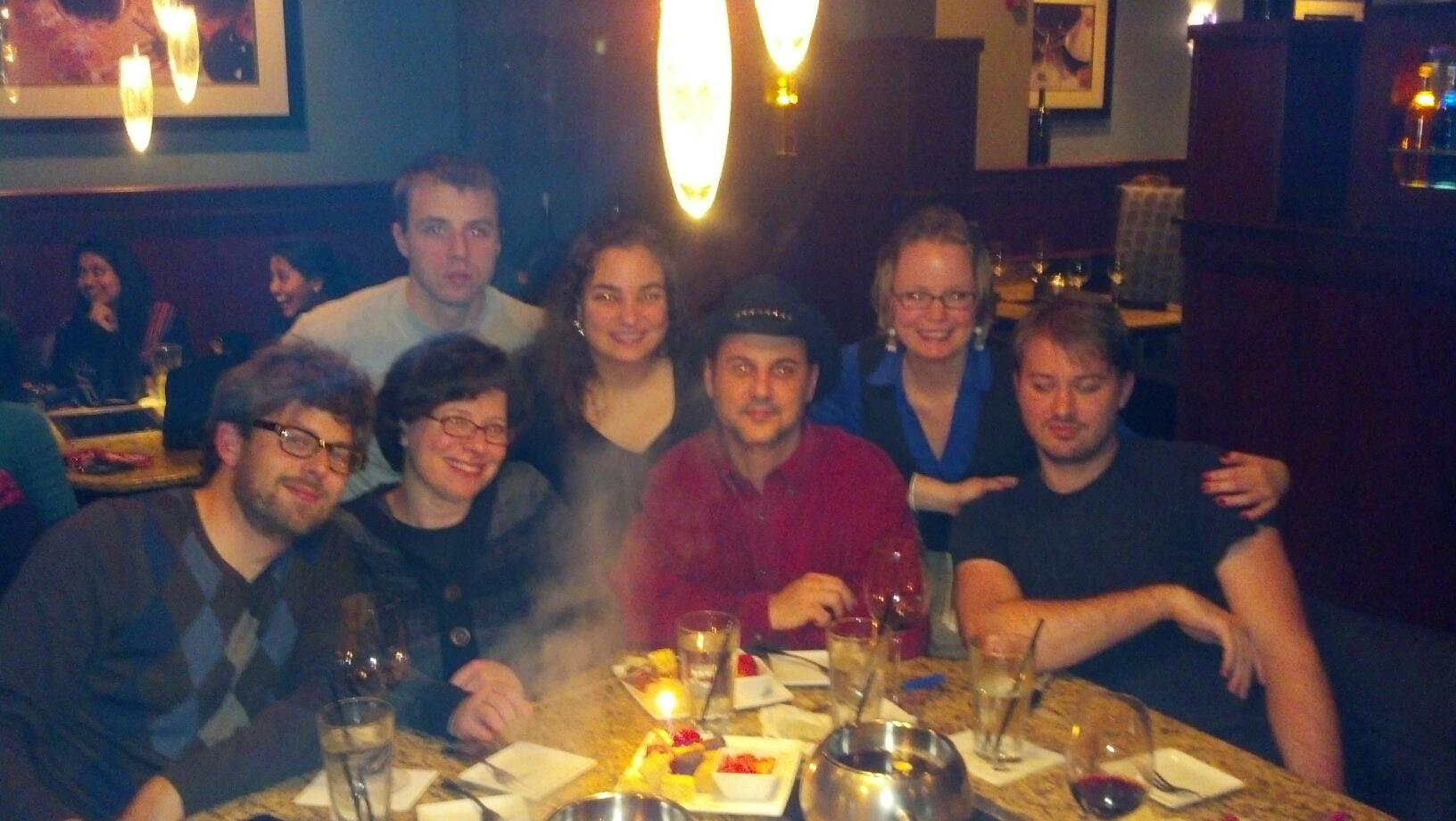 Thursday night at the Melting Pot celebrating Kristen's birthday with friends!