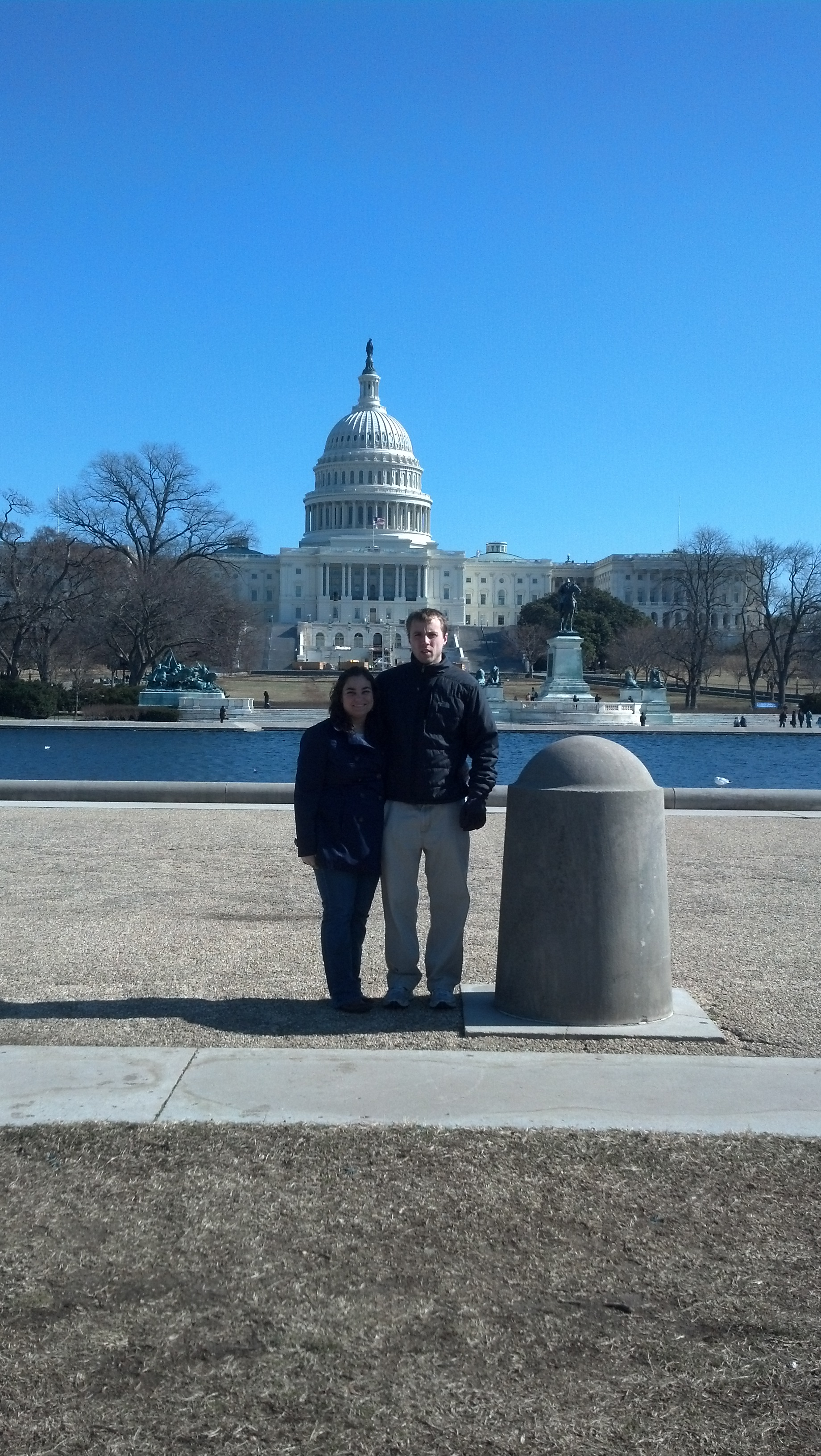 Ben and I in front of the capitol building