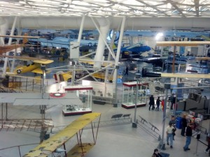 A view of just a view of the amazing and historical airplanes that the Steven F. Udvar-Hazy Center has on display.