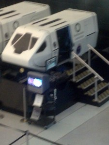The flight simulator that we got to control/ride in.
